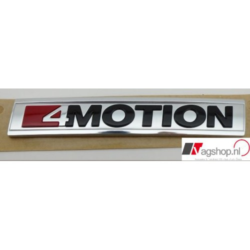 4 Motion embleem achterzijde